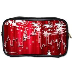 City Nicholas Reindeer View Toiletries Bags 2-Side