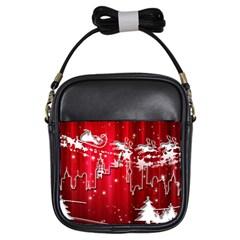 City Nicholas Reindeer View Girls Sling Bags