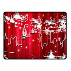 City Nicholas Reindeer View Fleece Blanket (Small)