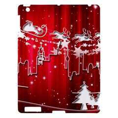 City Nicholas Reindeer View Apple iPad 3/4 Hardshell Case