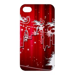 City Nicholas Reindeer View Apple iPhone 4/4S Premium Hardshell Case