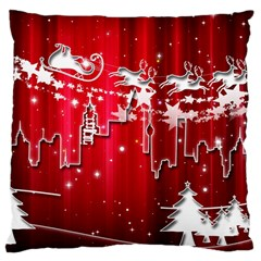 City Nicholas Reindeer View Large Cushion Case (One Side)