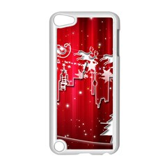 City Nicholas Reindeer View Apple Ipod Touch 5 Case (white)