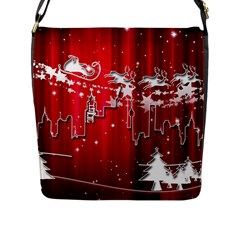 City Nicholas Reindeer View Flap Messenger Bag (L)