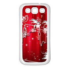 City Nicholas Reindeer View Samsung Galaxy S3 Back Case (White)