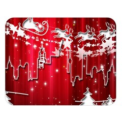 City Nicholas Reindeer View Double Sided Flano Blanket (large)
