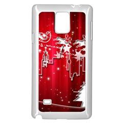 City Nicholas Reindeer View Samsung Galaxy Note 4 Case (White)