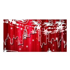 City Nicholas Reindeer View Satin Shawl