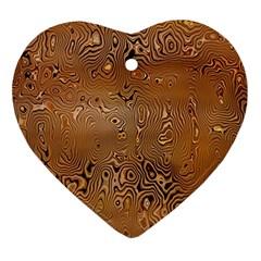 Circuit Board Pattern Ornament (Heart)
