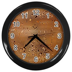 Circuit Board Pattern Wall Clocks (Black)