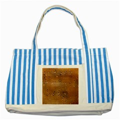 Circuit Board Pattern Striped Blue Tote Bag