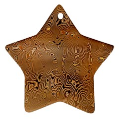 Circuit Board Pattern Star Ornament (Two Sides)