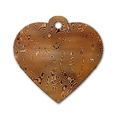 Circuit Board Pattern Dog Tag Heart (Two Sides)