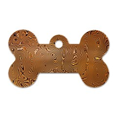 Circuit Board Pattern Dog Tag Bone (One Side)