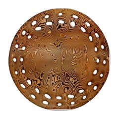 Circuit Board Pattern Round Filigree Ornament (two Sides)