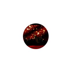 City Silhouette Christmas Star 1  Mini Buttons