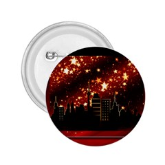 City Silhouette Christmas Star 2 25  Buttons