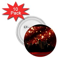 City Silhouette Christmas Star 1.75  Buttons (10 pack)