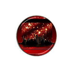 City Silhouette Christmas Star Hat Clip Ball Marker (4 Pack)