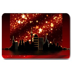 City Silhouette Christmas Star Large Doormat