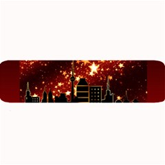 City Silhouette Christmas Star Large Bar Mats