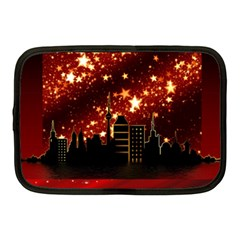 City Silhouette Christmas Star Netbook Case (Medium)