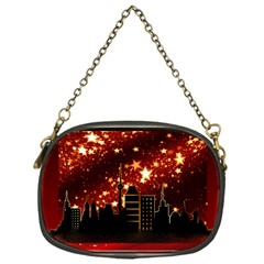 City Silhouette Christmas Star Chain Purses (One Side)