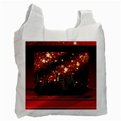 City Silhouette Christmas Star Recycle Bag (Two Side)
