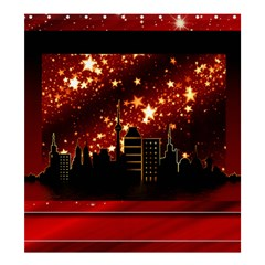 City Silhouette Christmas Star Shower Curtain 66  X 72  (large)