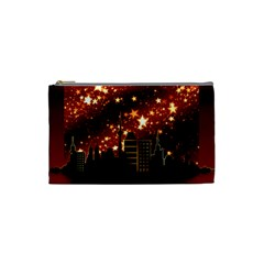 City Silhouette Christmas Star Cosmetic Bag (Small)