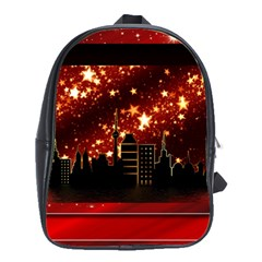 City Silhouette Christmas Star School Bags(Large)
