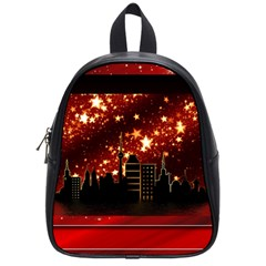 City Silhouette Christmas Star School Bags (Small)