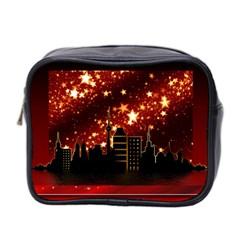City Silhouette Christmas Star Mini Toiletries Bag 2-Side