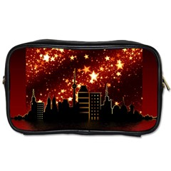 City Silhouette Christmas Star Toiletries Bags 2-Side