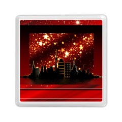 City Silhouette Christmas Star Memory Card Reader (Square)