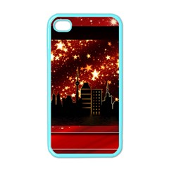 City Silhouette Christmas Star Apple iPhone 4 Case (Color)