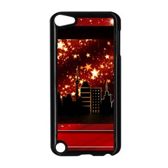 City Silhouette Christmas Star Apple iPod Touch 5 Case (Black)