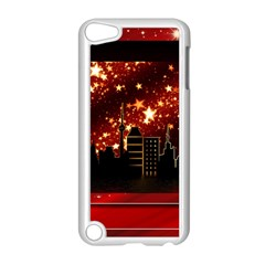 City Silhouette Christmas Star Apple iPod Touch 5 Case (White)