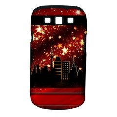 City Silhouette Christmas Star Samsung Galaxy S Iii Classic Hardshell Case (pc+silicone)