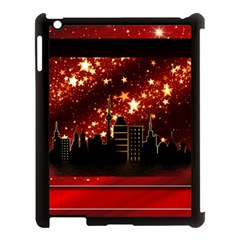 City Silhouette Christmas Star Apple iPad 3/4 Case (Black)