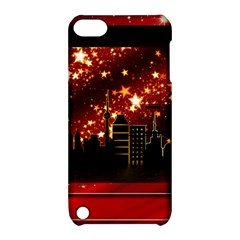 City Silhouette Christmas Star Apple iPod Touch 5 Hardshell Case with Stand