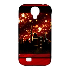 City Silhouette Christmas Star Samsung Galaxy S4 Classic Hardshell Case (pc+silicone)
