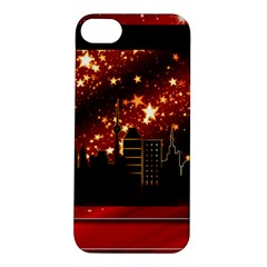 City Silhouette Christmas Star Apple iPhone 5S/ SE Hardshell Case
