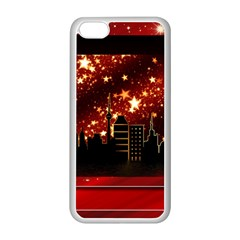 City Silhouette Christmas Star Apple iPhone 5C Seamless Case (White)