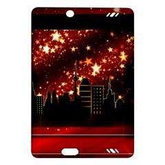 City Silhouette Christmas Star Amazon Kindle Fire Hd (2013) Hardshell Case