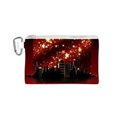 City Silhouette Christmas Star Canvas Cosmetic Bag (s)
