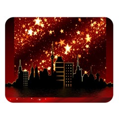 City Silhouette Christmas Star Double Sided Flano Blanket (Large)
