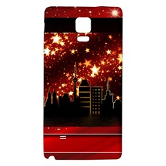 City Silhouette Christmas Star Galaxy Note 4 Back Case