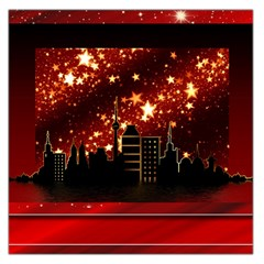 City Silhouette Christmas Star Large Satin Scarf (square)
