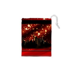 City Silhouette Christmas Star Drawstring Pouches (XS)